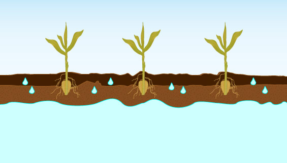 DeKam Construction drain tile illustration - improper drainage